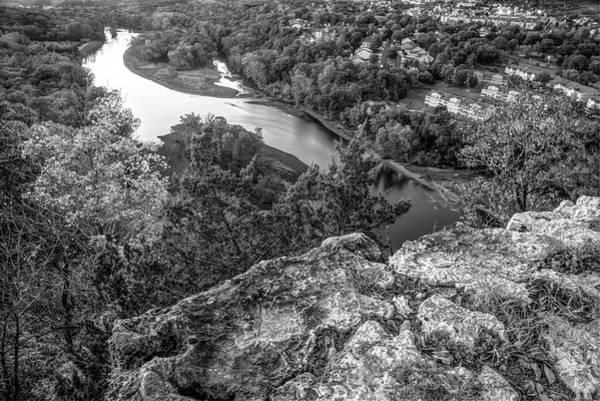Photograph - Branson Scenic 165 Overlook Landscape - Table Rock Lake Monochrome by Gregory Ballos