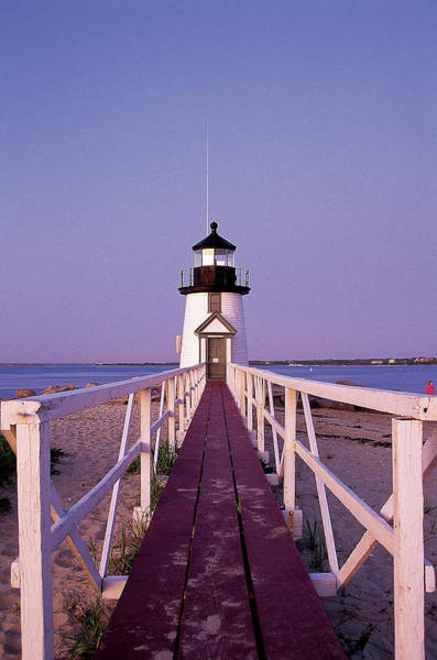 Nantucket Photograph - Brant Point Lighthouse, Nantucket by Bud Freund