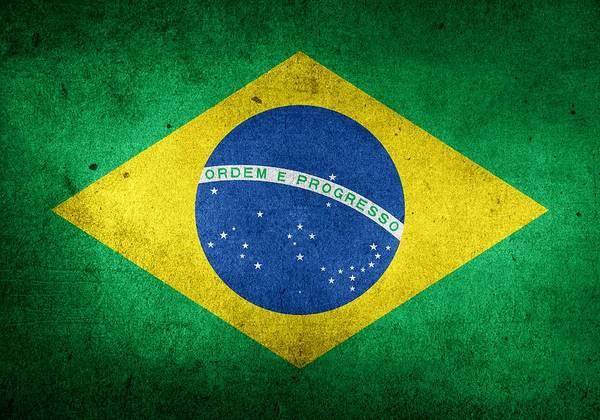 Brazil Painting - Brasil National Flag by ArtMarketJapan