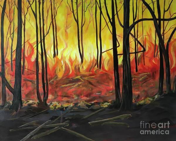 Wall Art - Painting - Brass Fire by Maria Karlosak