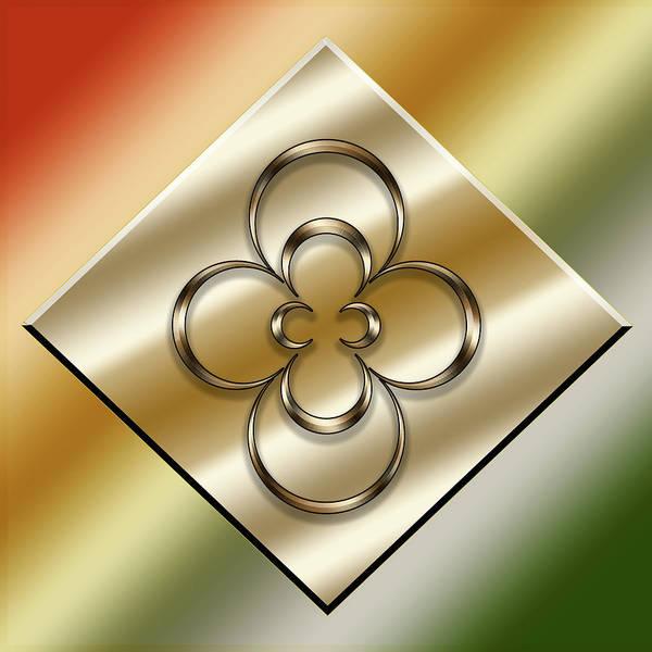 Digital Art - Brass On Gold 1 by Chuck Staley