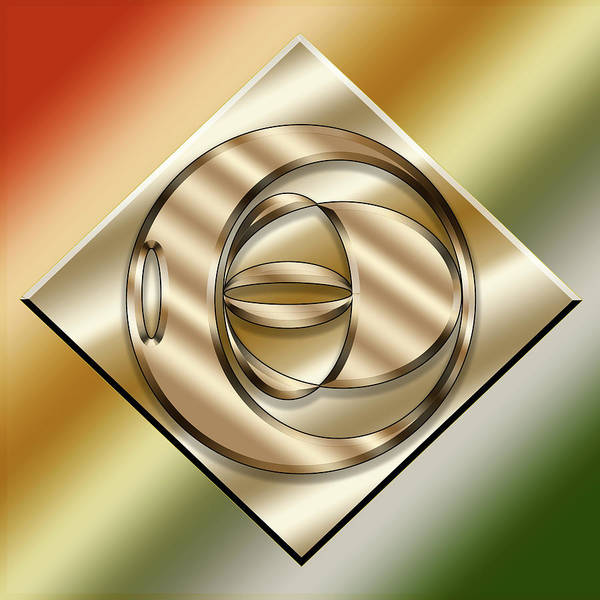 Digital Art - Brass On Gold 4 by Chuck Staley