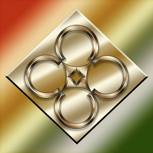 Digital Art - Brass On Gold 5 by Chuck Staley