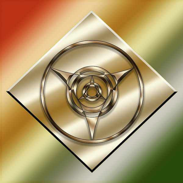 Digital Art - Brass On Gold 6 by Chuck Staley