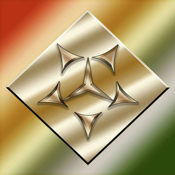 Digital Art - Brass On Gold 7 by Chuck Staley