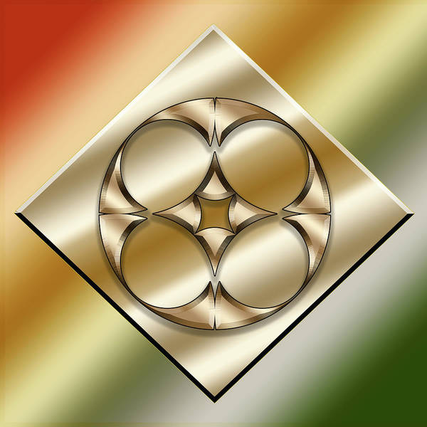 Digital Art - Brass On Gold 8 by Chuck Staley