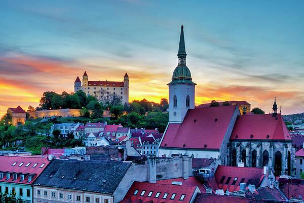 Photograph - Bratislava Castle And St Martin Cathedral by Fabrizio Troiani