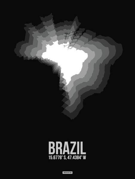 Wall Art - Digital Art - Brazil Radiant Map 4 by Naxart Studio