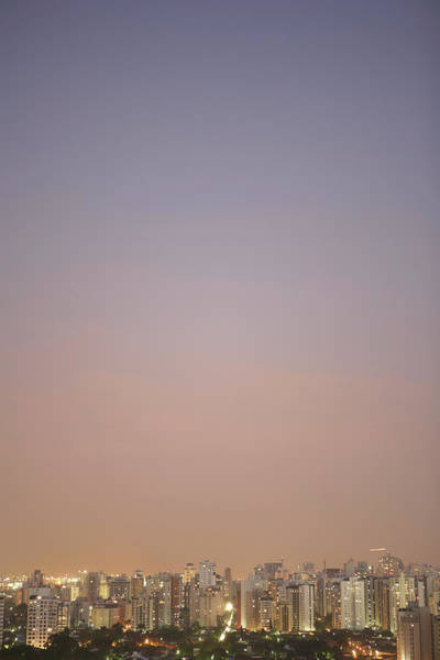Wall Art - Photograph - Brazil, Sao Paulo, Cityscape At Sunset by Thomas Northcut