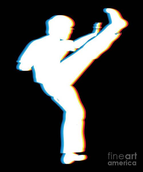Capoeira Digital Art - Brazilian Capoeira Gift Capoeirista Retro 3d Funky Effect  by Martin Hicks