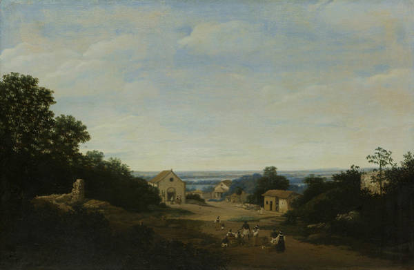 Wall Art - Painting - Brazilian Landscape With The Village Of Igaracu by Frans Post