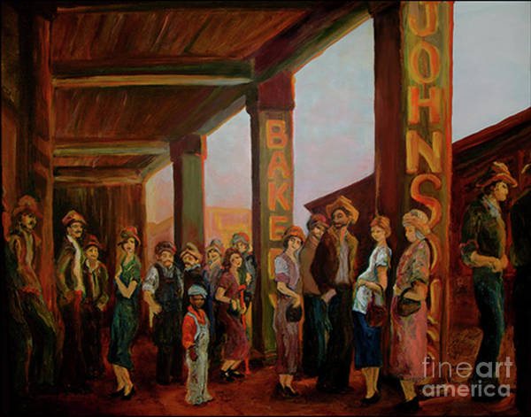 Painting - Bread Line by Donna Hall