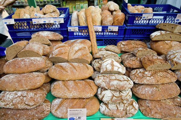 Wall Art - Photograph - Bread Stall, Naschmarkt by Lonely Planet