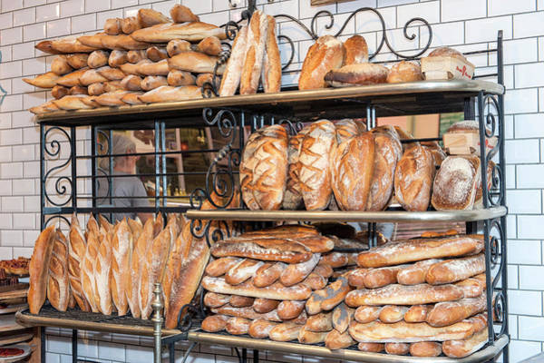 Wall Art - Photograph - Bread Vendor, Halles De Lyon, Lyon by Lisa S. Engelbrecht