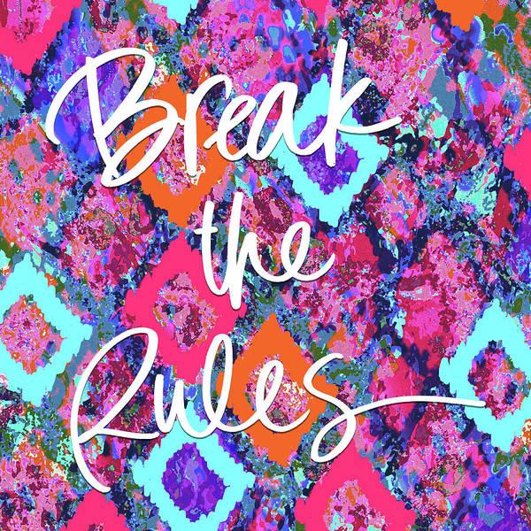 Wall Art - Painting - Break The Rules by Nicholas Biscardi