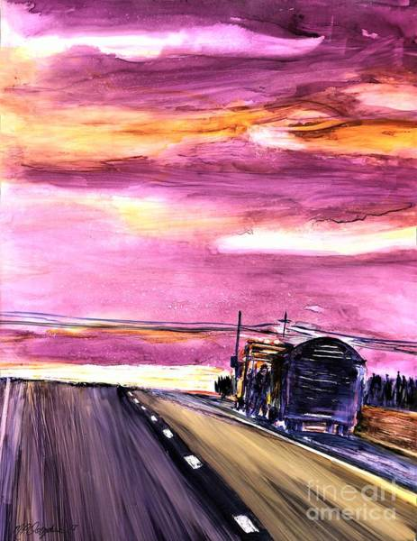 Wall Art - Painting - Breakdown Truck Driving Day by Patty Donoghue