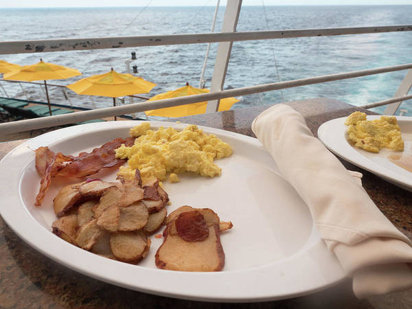 Photograph - Breakfast At Sea by Kyle Lee