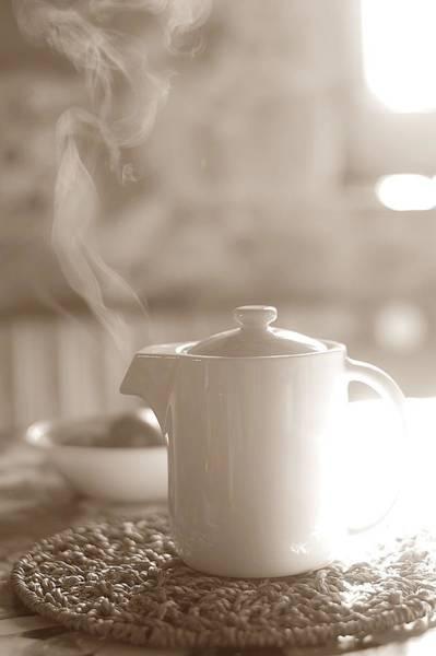 Teapot Photograph - Breakfast by Author Bita Dominique