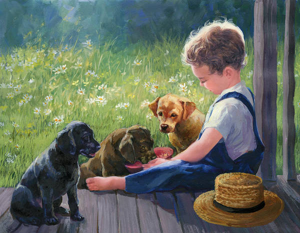 Wall Art - Painting - Breakfast Buddies by Laurie Snow Hein