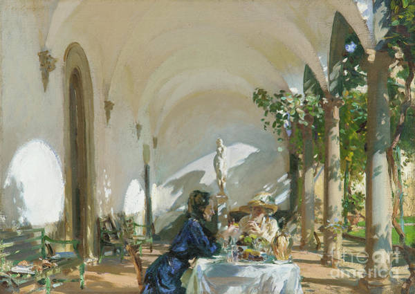 Dining Al Fresco Painting - Breakfast In The Loggia, 1910  by John Singer Sargent