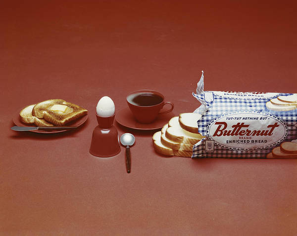1961 Photograph - Breakfast On Brown Background by Tom Kelley Archive