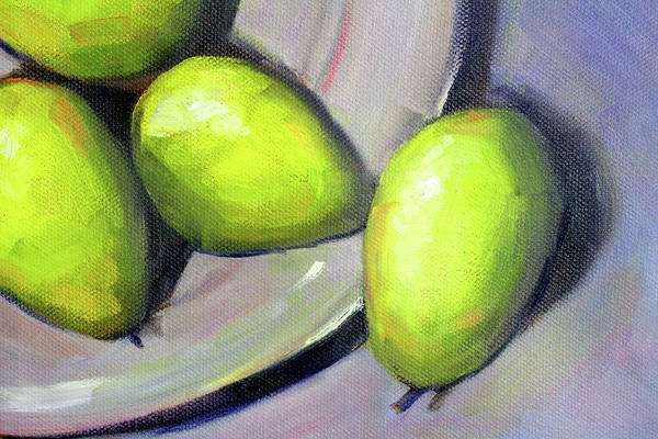 Wall Art - Painting - Breakfast Pears by Nancy Merkle
