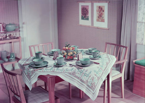 Chair Photograph - Breakfast Table by Hulton Archive