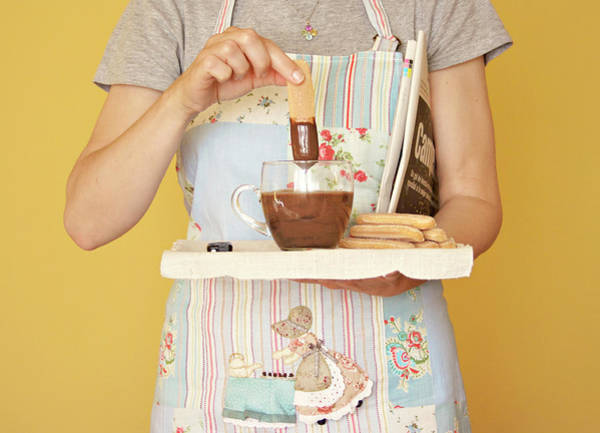 Apron Photograph - Breakfast With Chocolate by Montse Cuesta