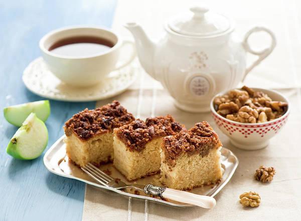 Slice Photograph - Breakfast With Nut Cake by Verdina Anna