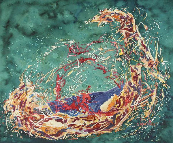 Broken Egg Painting - Breaking Out Empty Nest Iv by Jenny Armitage