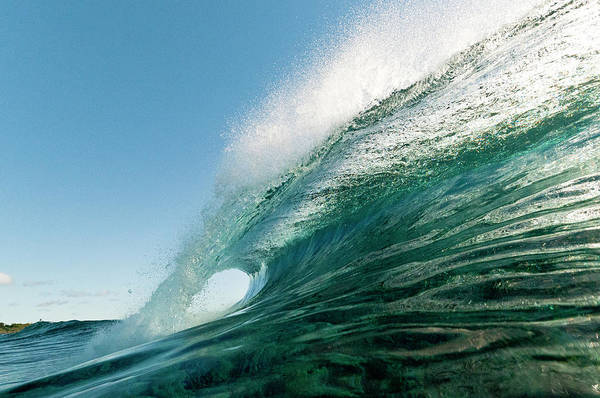 Rarotonga Photograph - Breaking Wave, Rarotonga, Cook Islands by Thomas Pickard