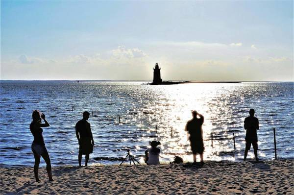 Photograph - Breakwater East End Beach Scene by Kim Bemis