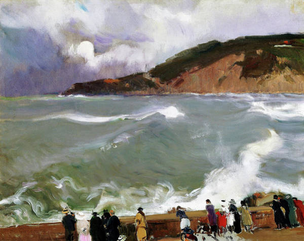 Wall Art - Painting - Breakwater, San Sebastian - Digital Remastered Edition by Joaquin Sorolla