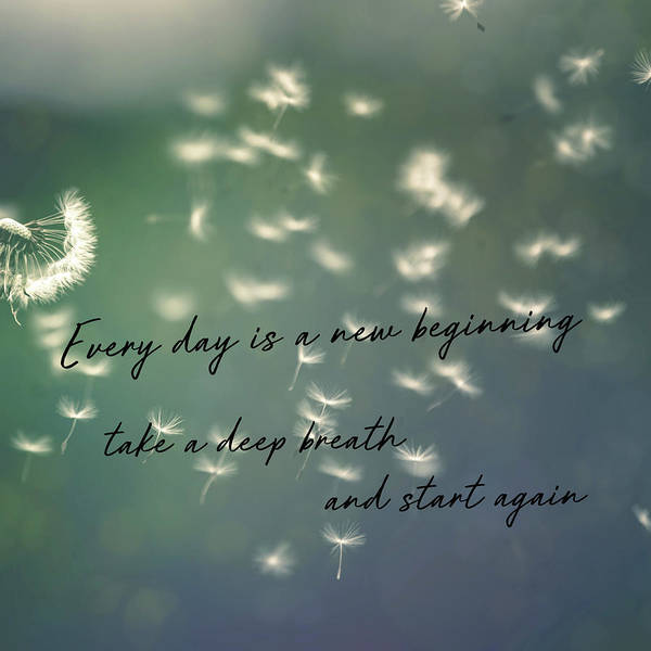 Photograph - Breathe Deeply Quote by Jamart Photography
