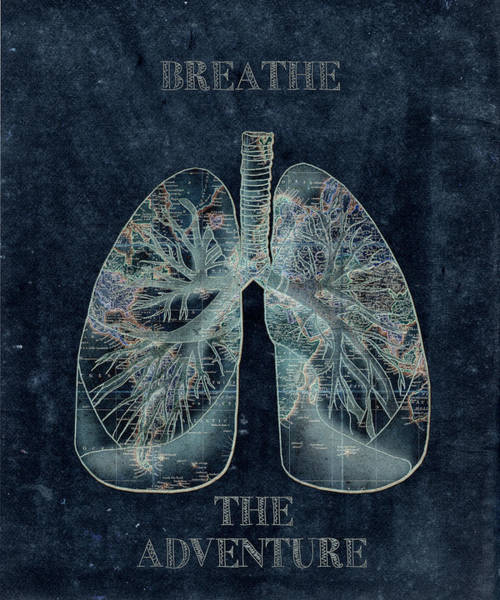 Lung Digital Art - Breathe The Adventure 4 by Bekim Art