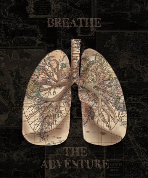 Lung Digital Art - Breathe The Adventure 5 by Bekim Art