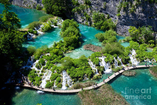 Freshness Wall Art - Photograph - Breathtaking View In The Plitvice Lakes by Royalty Stock Photos Hq