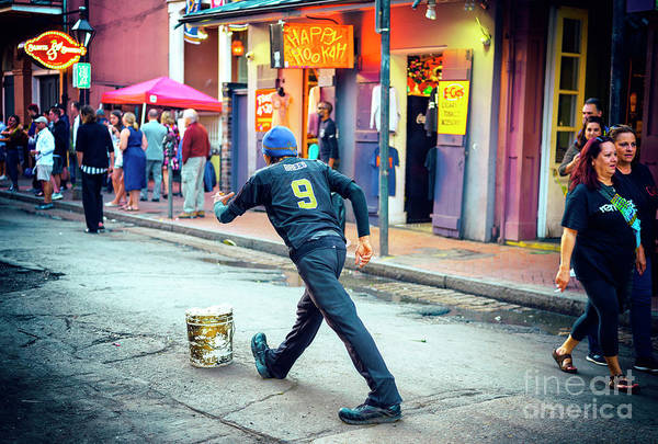 Photograph - Brees On Bourbon Street New Orleans by John Rizzuto