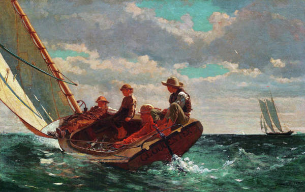 Wall Art - Painting - Breezing Up - Digital Remastered Edition by Winslow Homer