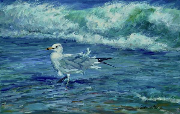 Seabirds Wall Art - Painting - Breezy Day by Laurie Snow Hein