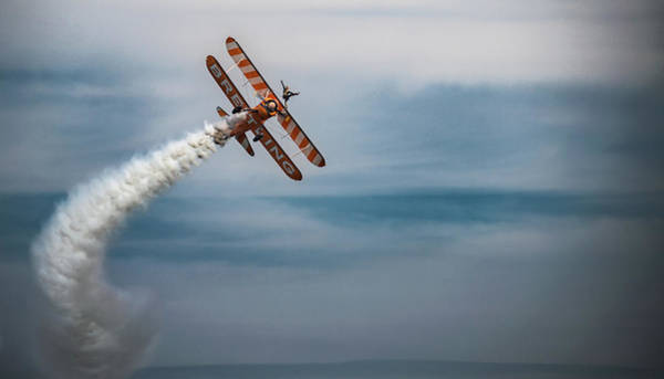 Photograph - Breitling Wing Walker Smoke Trail by Scott Lyons