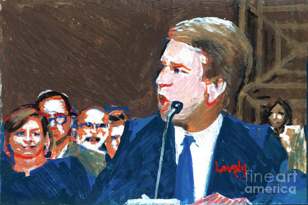 Me Too Painting - Brett Kavanaugh Testifies Before Senate by Candace Lovely