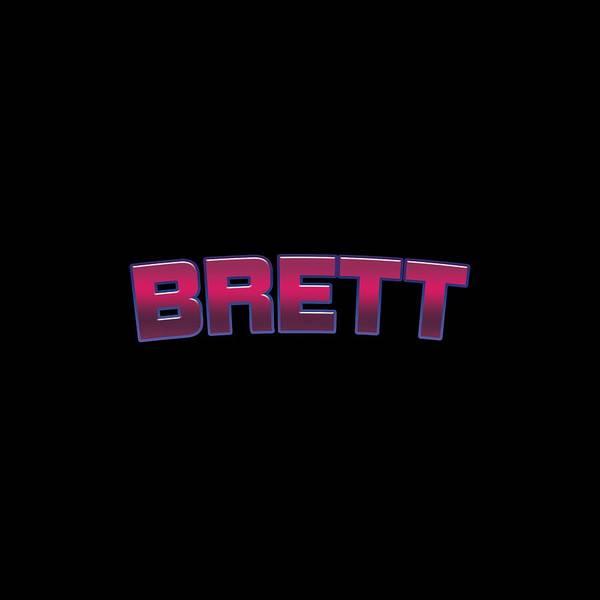 Brett Wall Art - Digital Art - Brett by TintoDesigns