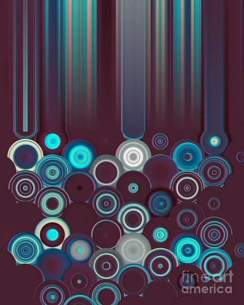 Digital Art - Brick And Turquoise Geometric Design by Rachel Hannah