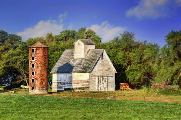 Wall Art - Photograph - Brick Silo - Old Barn by Nikolyn McDonald