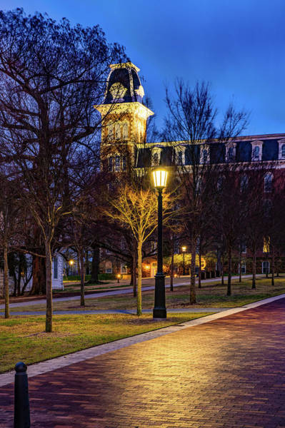 Photograph - Brick Walkway To Old Main - University Of Arkansas by Gregory Ballos