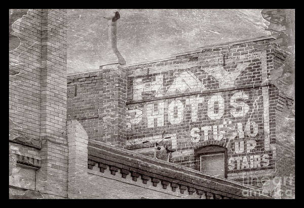 Photograph - Brick Wall Advert  by Imagery by Charly