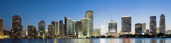 Wall Art - Photograph - Brickell And Miami City Skyline At by Deejpilot