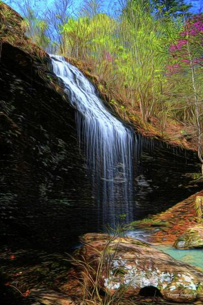 Digital Art - Bridal Veil Falls, Arkansas by Wesley Nesbitt