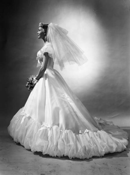 1958 Photograph - Bridal Wear by Chaloner Woods